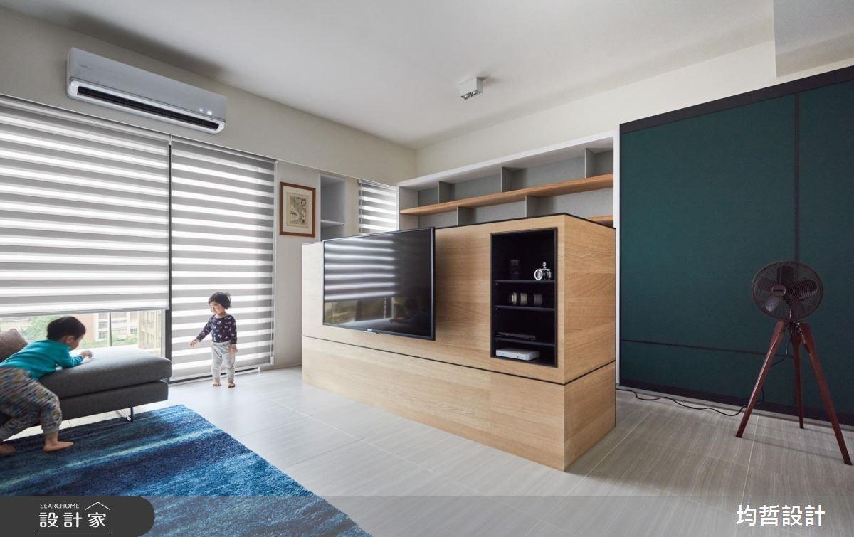 40坪新成屋(5年以下)_簡約風客廳案例圖片_均哲室內裝修設計有限公司_均哲_02之4