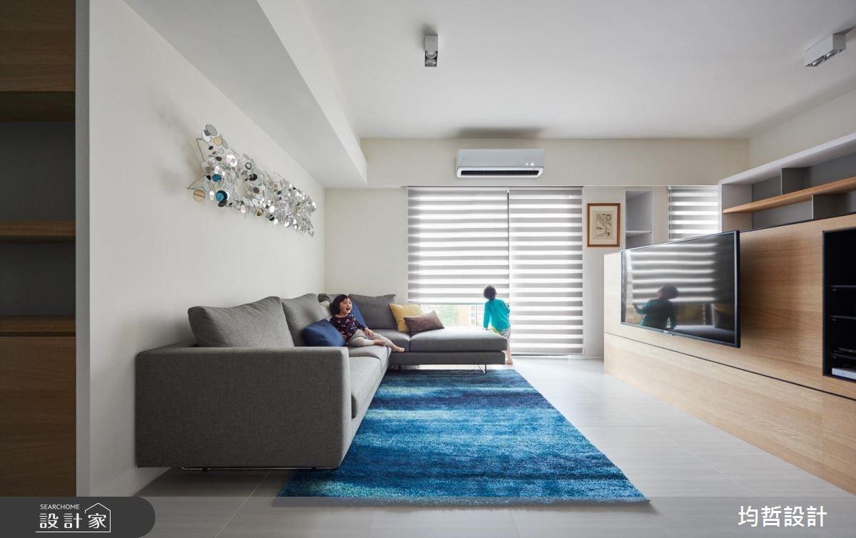 40坪新成屋(5年以下)_簡約風客廳案例圖片_均哲室內裝修設計有限公司_均哲_02之2
