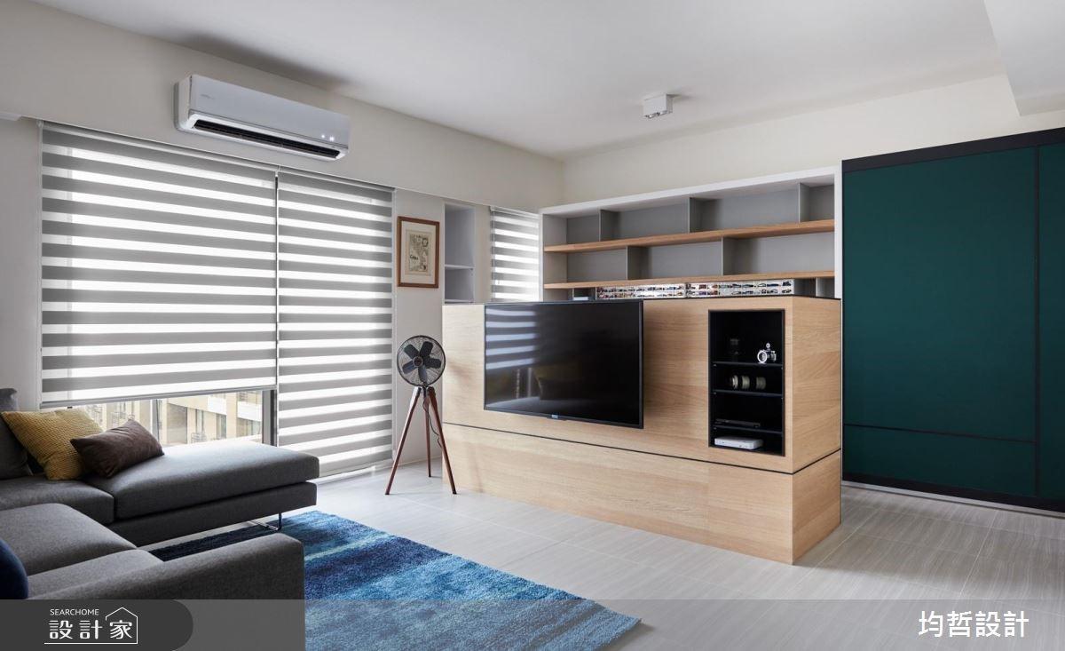 40坪新成屋(5年以下)_簡約風客廳案例圖片_均哲室內裝修設計有限公司_均哲_02之3