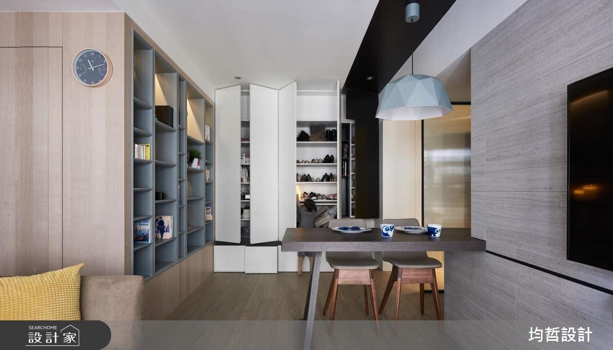 18坪新成屋(5年以下)_簡約風餐廳案例圖片_均哲室內裝修設計有限公司_均哲_03之4