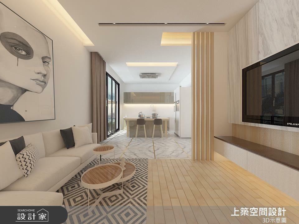 28坪新成屋(5年以下)_混搭風客廳案例圖片_上築空間設計_上築_01之2