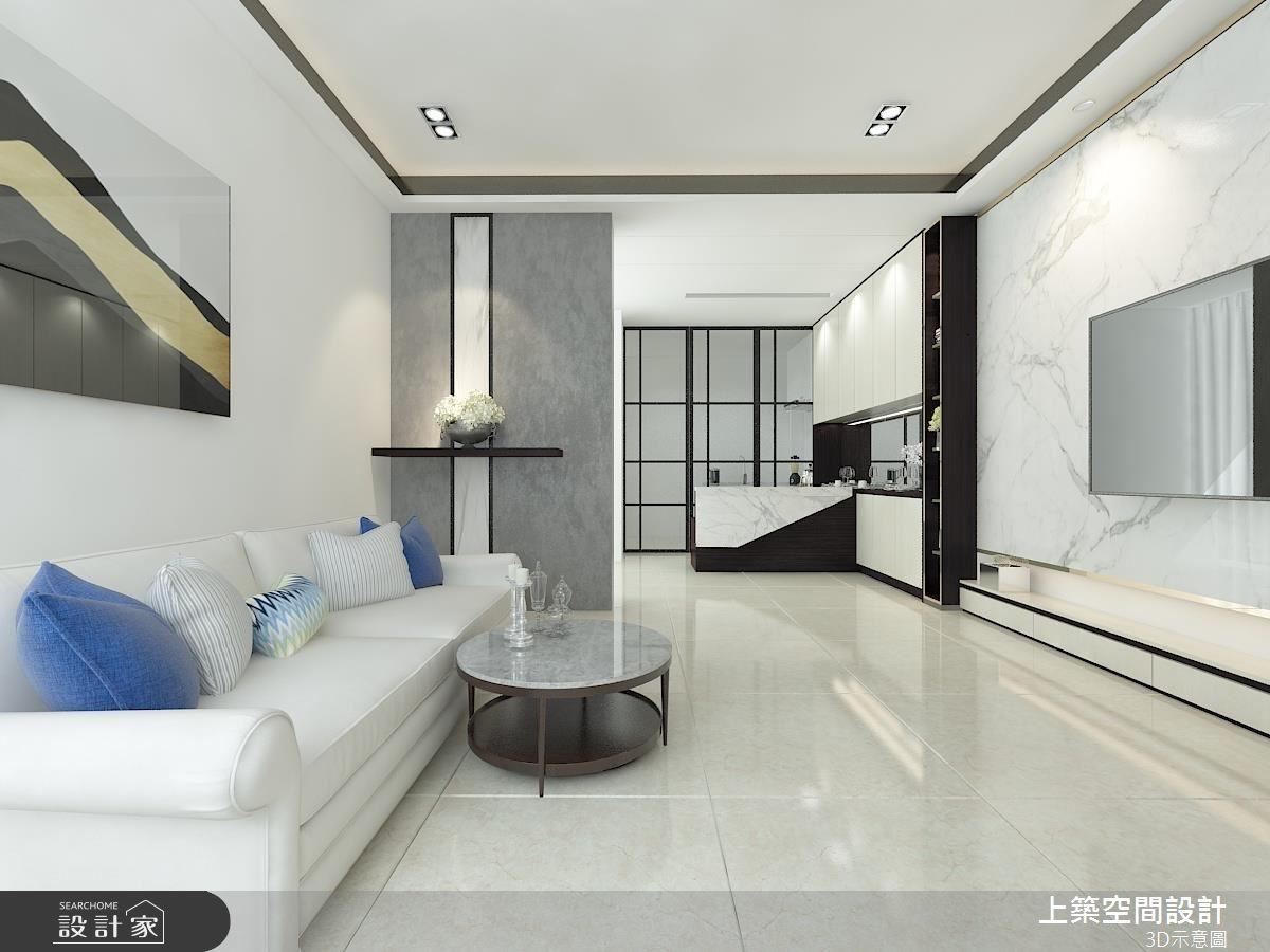 60坪老屋(16~30年)_現代風客廳案例圖片_上築空間設計_上築_03之3