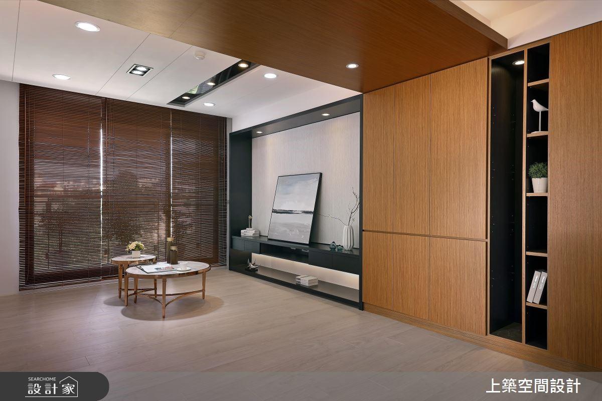 26坪新成屋(5年以下)_現代風客廳案例圖片_上築空間設計_上築_05之3
