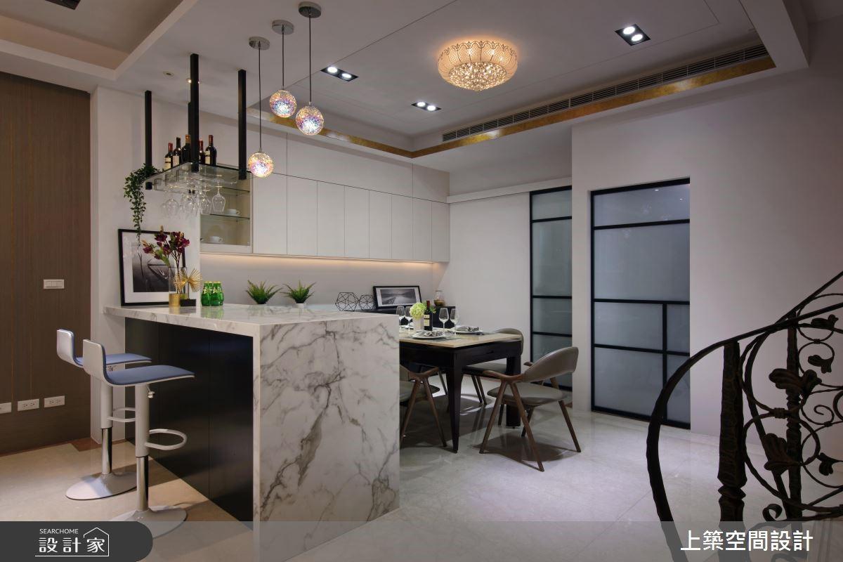 40坪中古屋(5~15年)_混搭風餐廳吧檯案例圖片_上築空間設計_上築_06之10