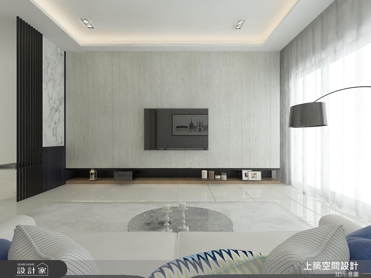 25坪新成屋(5年以下)_北歐風客廳案例圖片_上築空間設計_上築_07之3