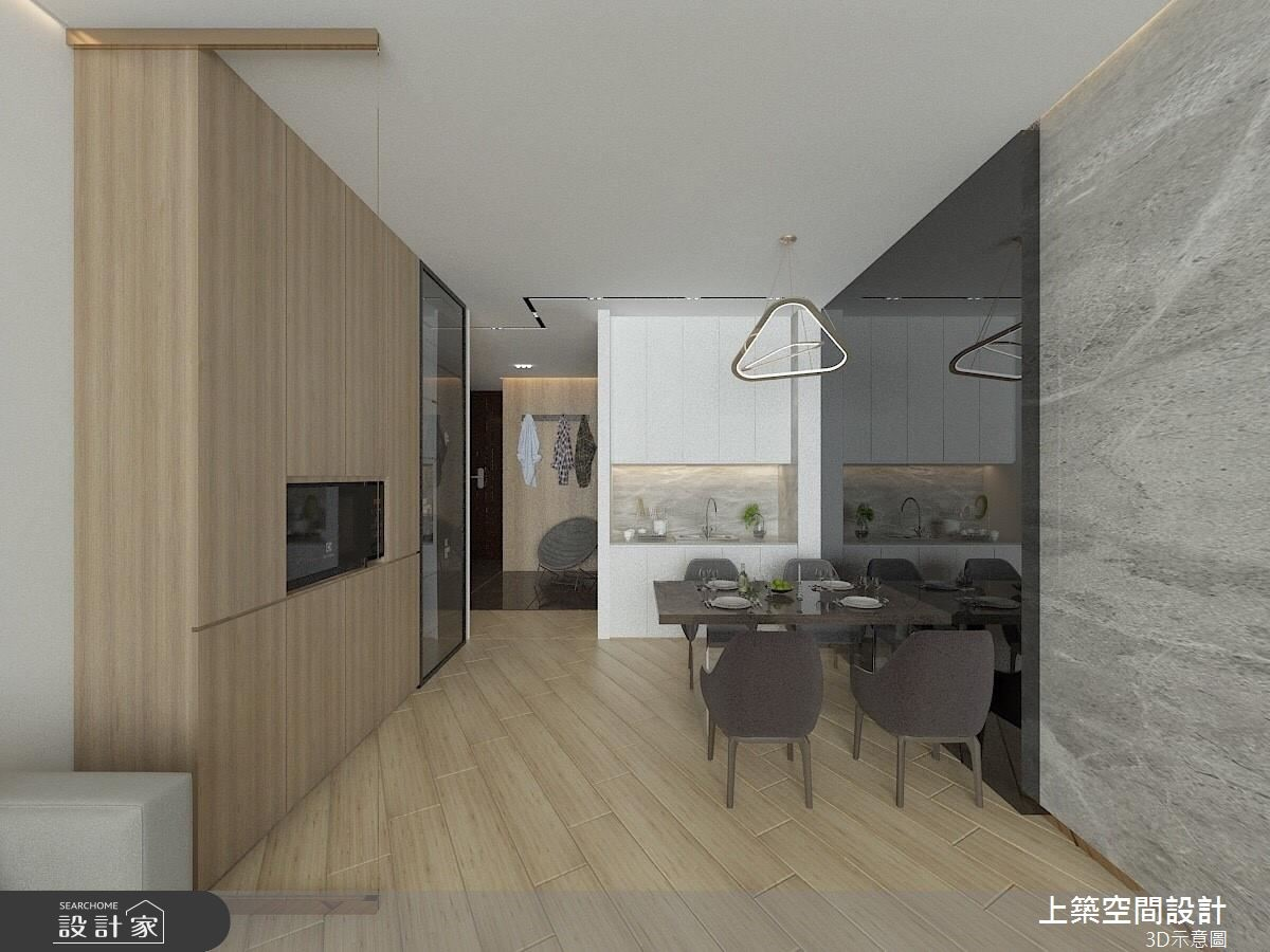30坪新成屋(5年以下)_混搭風餐廳案例圖片_上築空間設計_上築_08之3
