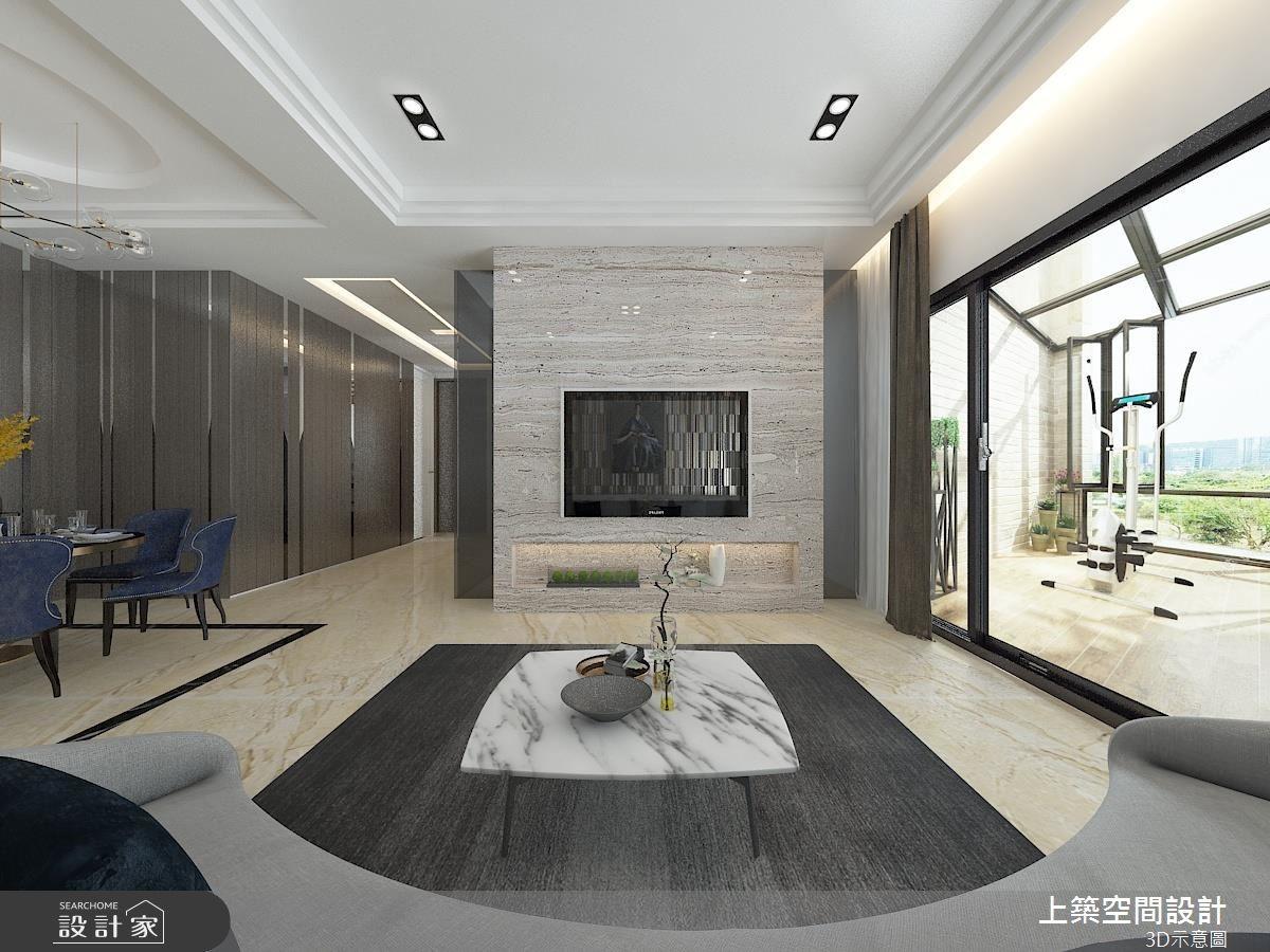 60坪新成屋(5年以下)_混搭風客廳案例圖片_上築空間設計_上築_09之5