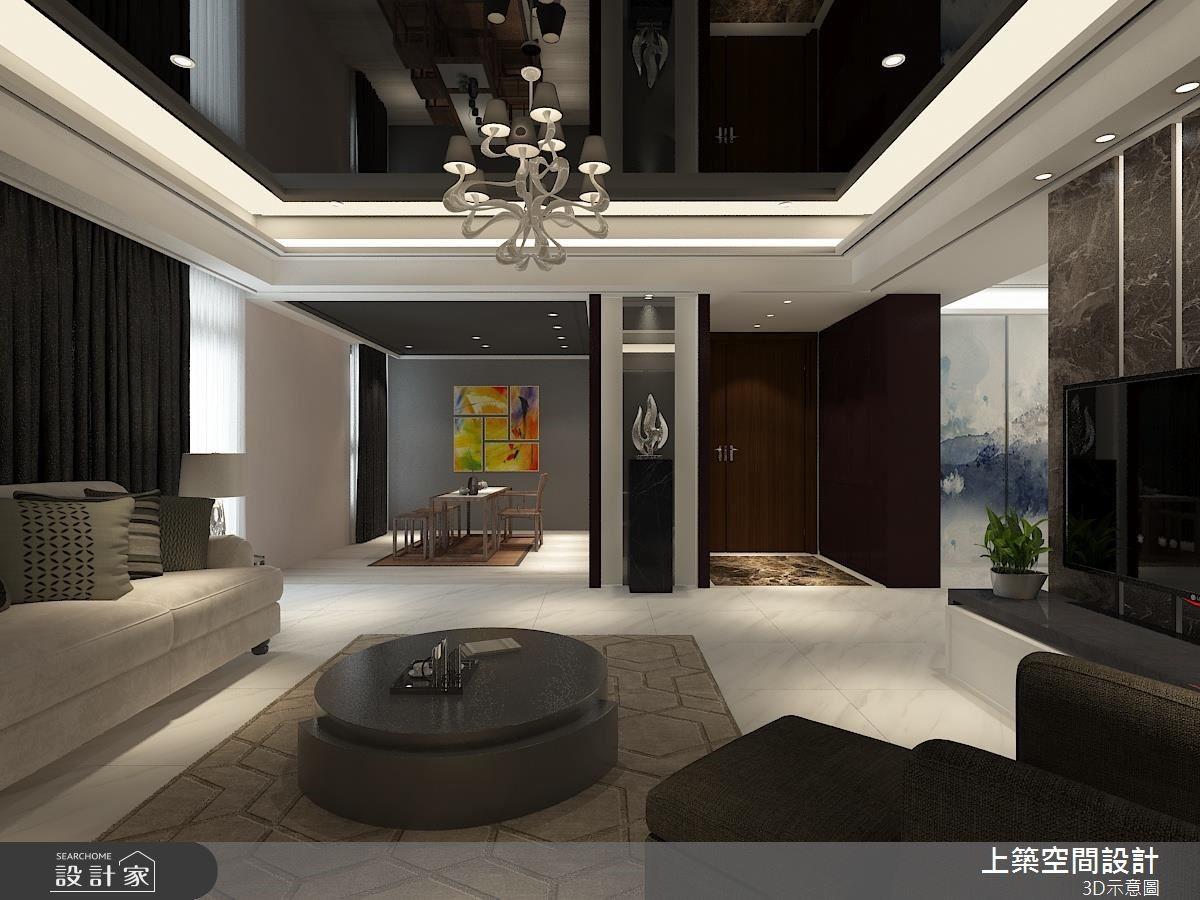 50坪新成屋(5年以下)_現代風客廳案例圖片_上築空間設計_上築_10之4