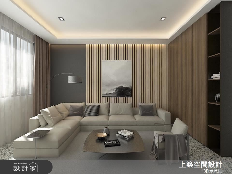 40坪新成屋(5年以下)_現代風客廳案例圖片_上築空間設計_上築_12之3
