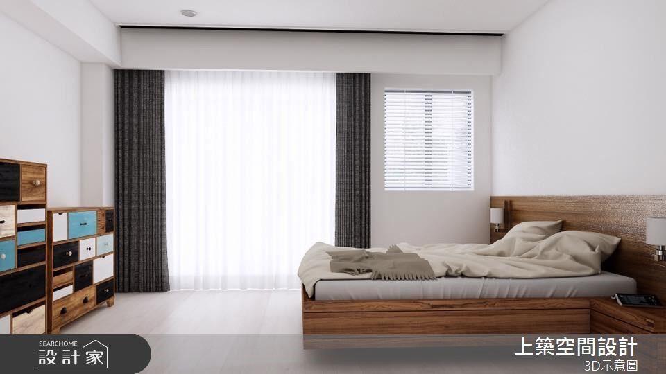 40坪新成屋(5年以下)_北歐風客房案例圖片_上築空間設計_上築_13之3