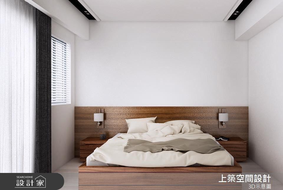 40坪新成屋(5年以下)_北歐風臥室客房案例圖片_上築空間設計_上築_13之4