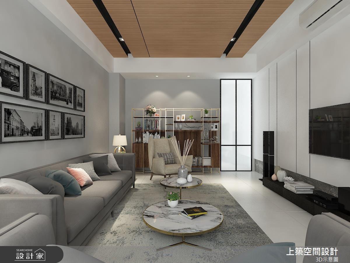 45坪中古屋(5~15年)_混搭風客廳案例圖片_上築空間設計_上築_16之2