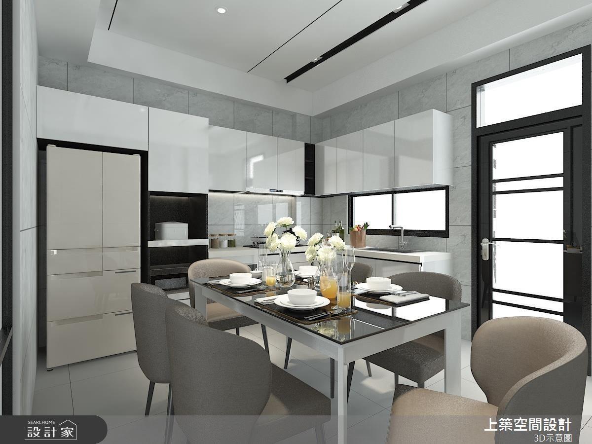 45坪中古屋(5~15年)_混搭風餐廳廚房案例圖片_上築空間設計_上築_16之4