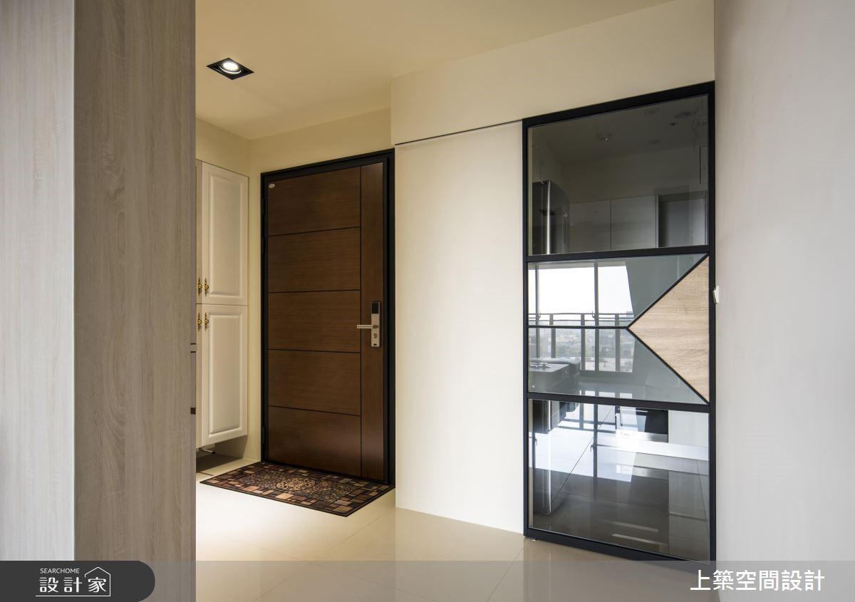 23坪新成屋(5年以下)_混搭風玄關案例圖片_上築空間設計_上築_17之4
