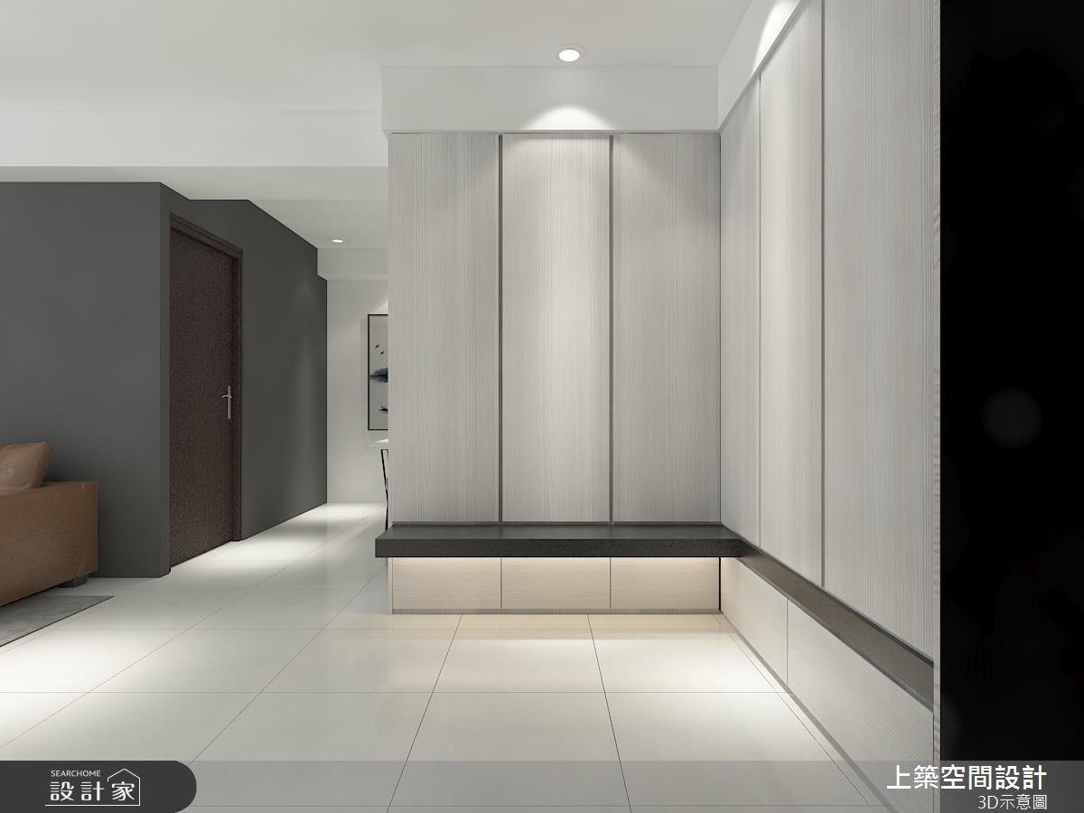 28坪預售屋_現代風玄關案例圖片_上築空間設計_上築_20之1