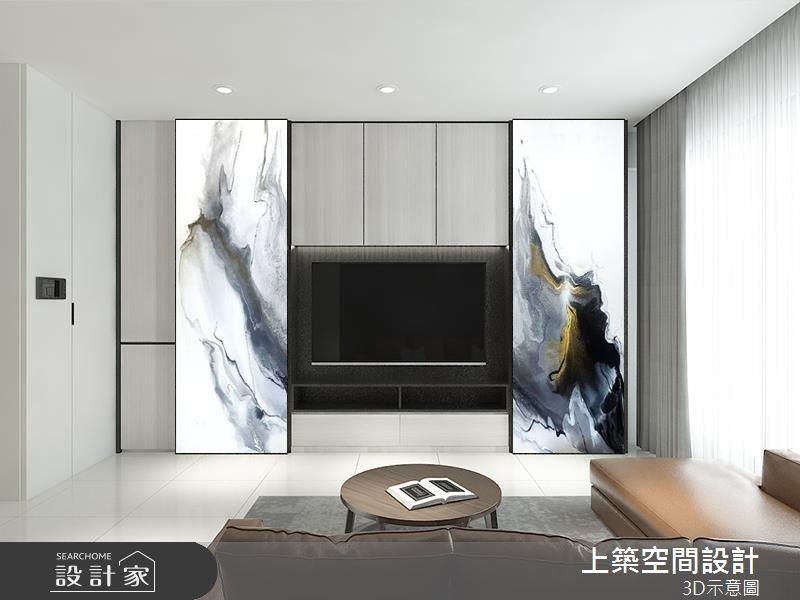 28坪預售屋_現代風客廳案例圖片_上築空間設計_上築_20之4
