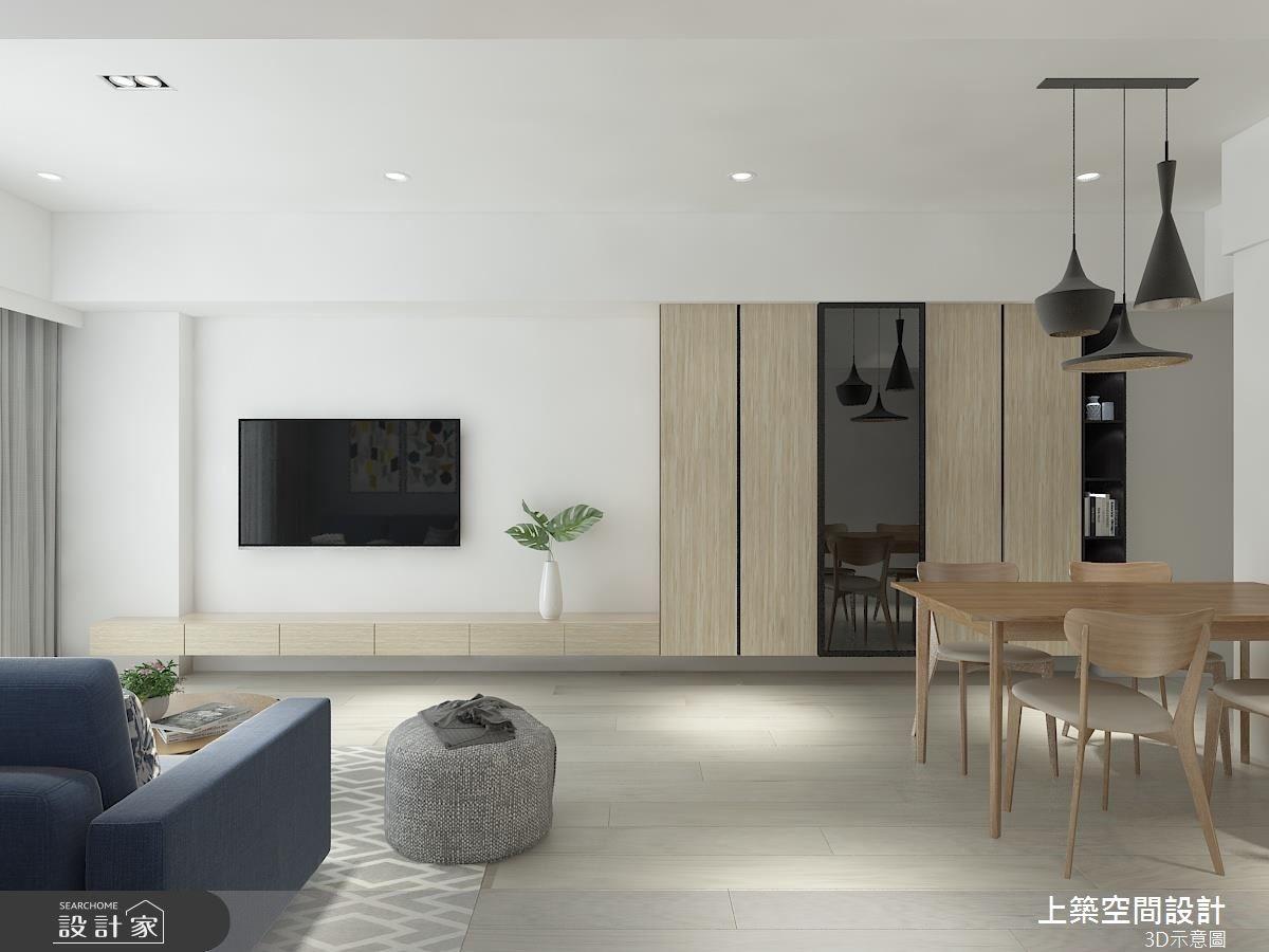 25坪新成屋(5年以下)_北歐風客廳餐廳案例圖片_上築空間設計_上築_21之2