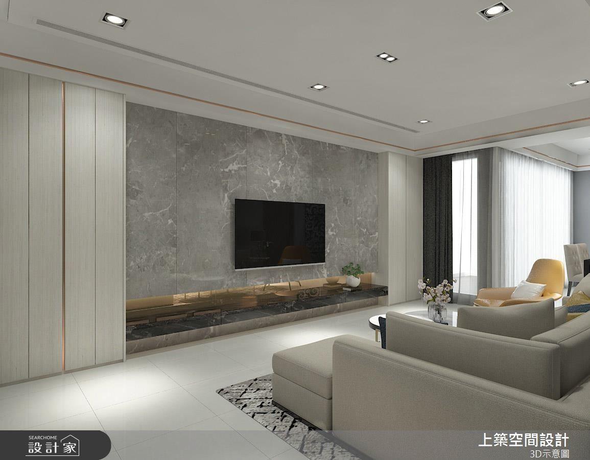 25坪預售屋_現代風客廳案例圖片_上築空間設計_上築_22之2