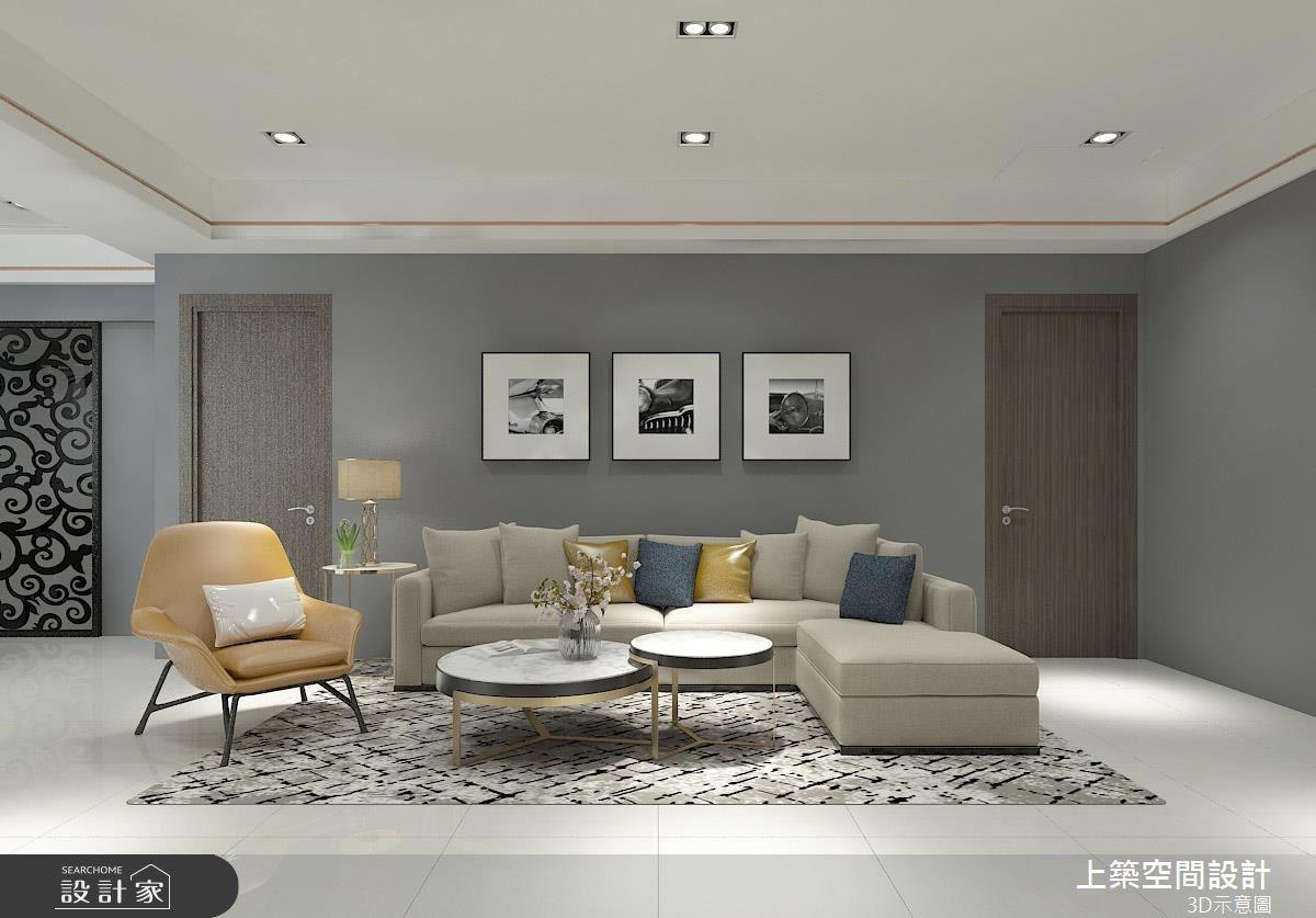 25坪預售屋_現代風客廳案例圖片_上築空間設計_上築_22之3