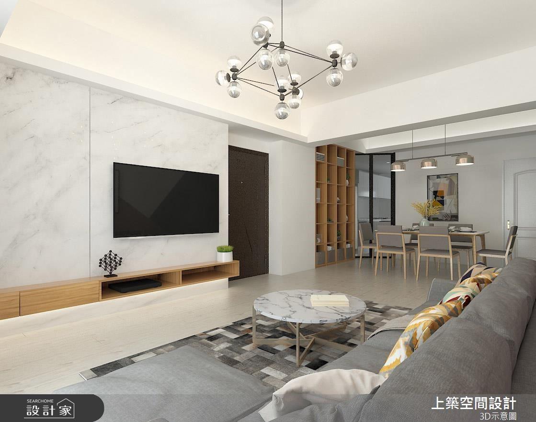 22坪老屋(16~30年)_北歐風客廳案例圖片_上築空間設計_上築_23之2