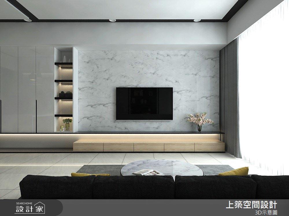 25坪_現代風客廳案例圖片_上築空間設計_上築_27之2