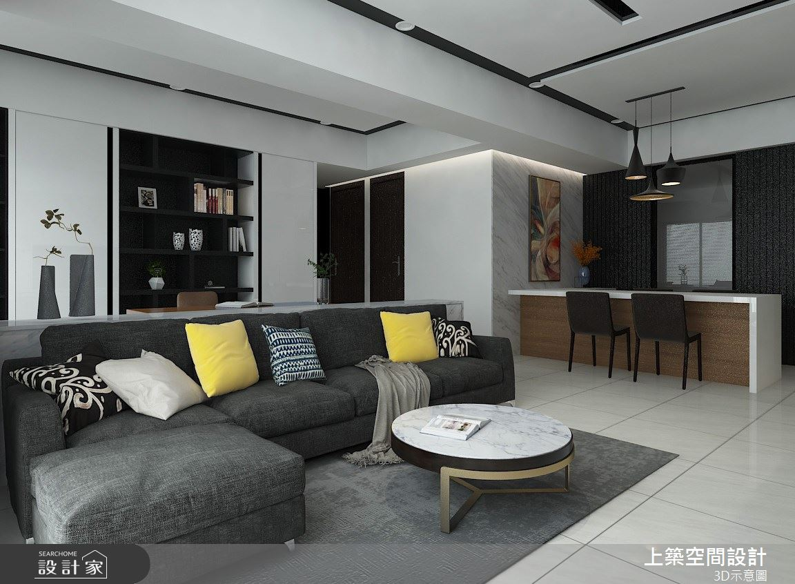 25坪_現代風客廳案例圖片_上築空間設計_上築_27之4