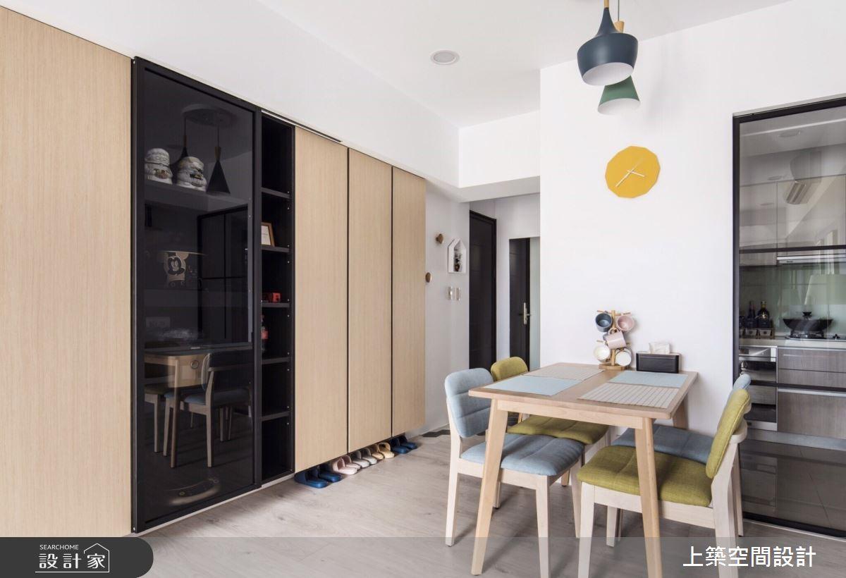 25坪新成屋(5年以下)_北歐風餐廳案例圖片_上築空間設計_上築_30之2