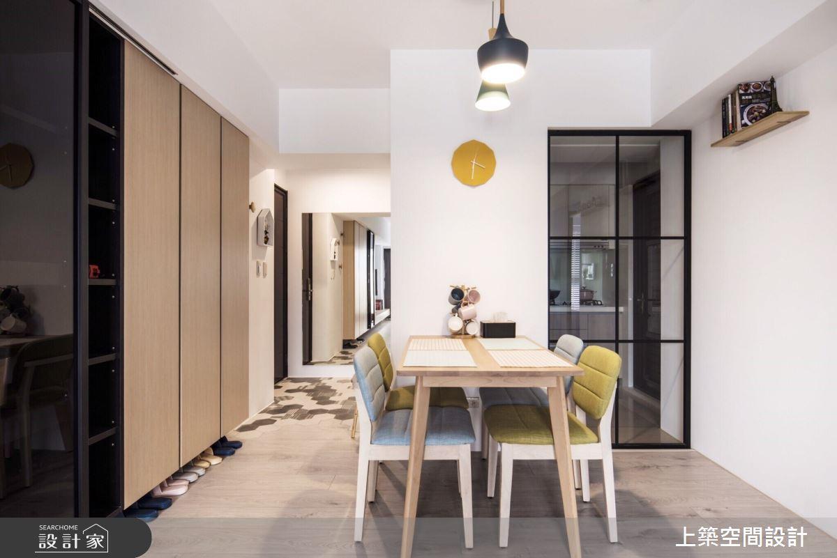 25坪新成屋(5年以下)_北歐風餐廳案例圖片_上築空間設計_上築_30之3