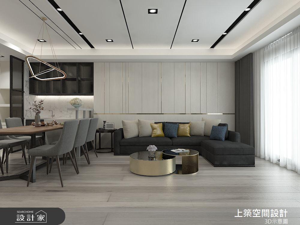 50坪老屋(16~30年)_現代風客廳餐廳案例圖片_上築空間設計_上築_34之3