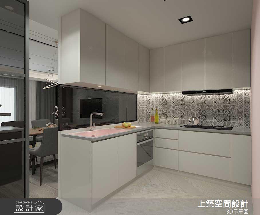 50坪老屋(16~30年)_現代風廚房案例圖片_上築空間設計_上築_34之4