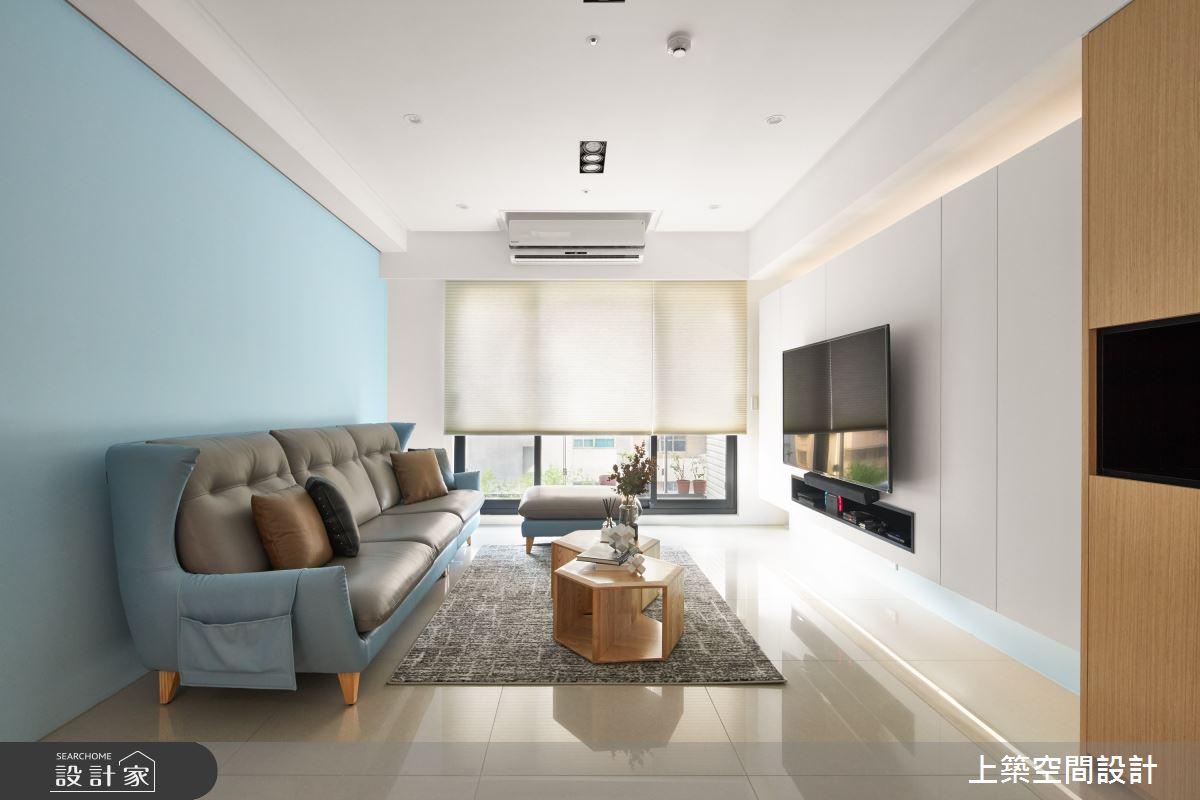 28坪新成屋(5年以下)_北歐風客廳案例圖片_上築空間設計_上築_35之6