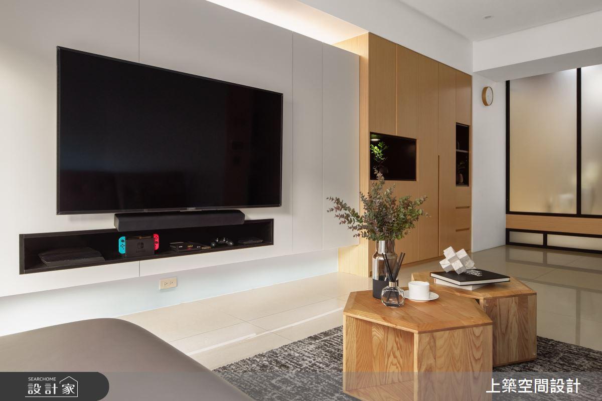 28坪新成屋(5年以下)_北歐風客廳案例圖片_上築空間設計_上築_35之9
