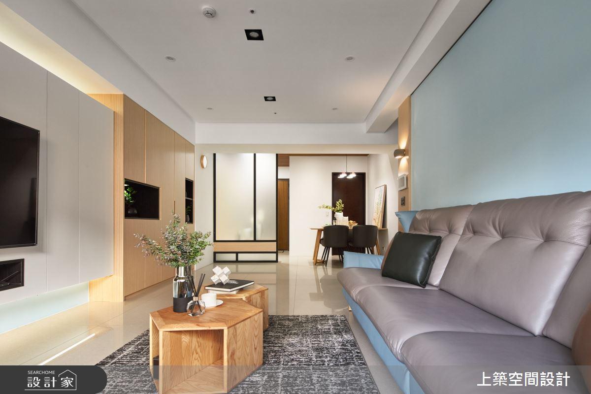 28坪新成屋(5年以下)_北歐風客廳案例圖片_上築空間設計_上築_35之11