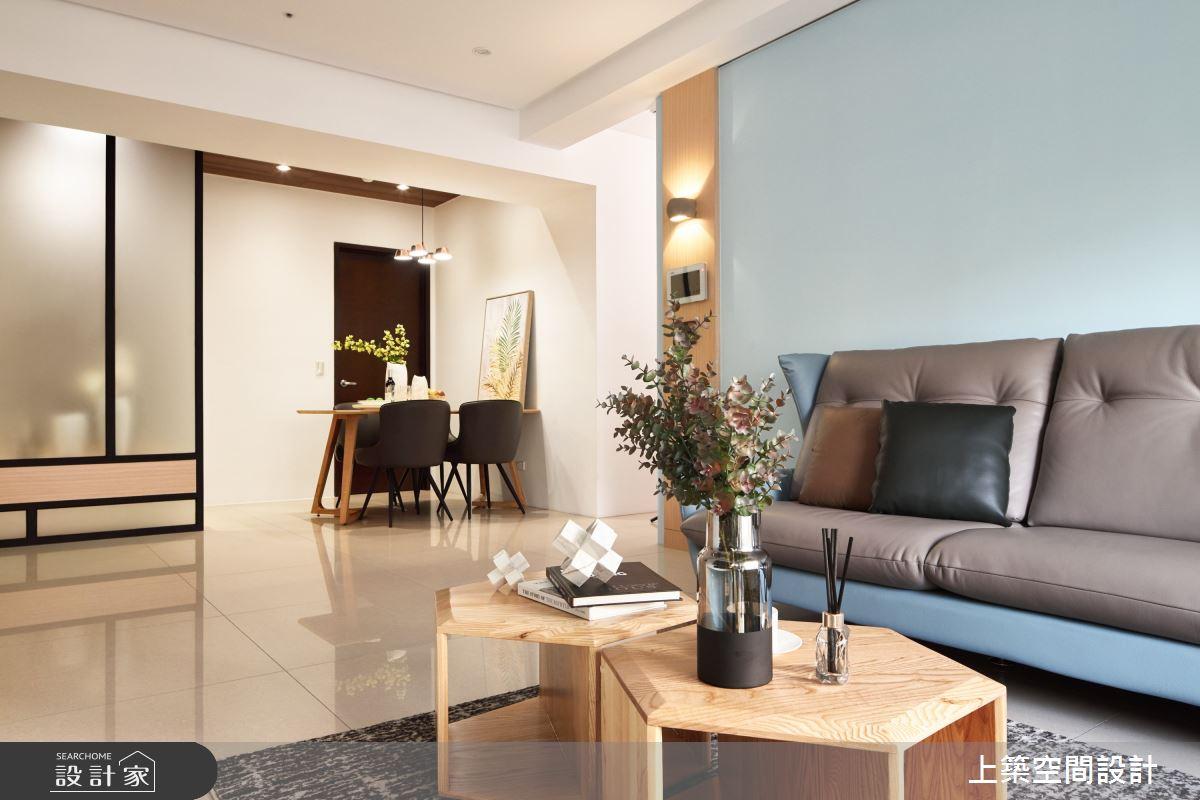 28坪新成屋(5年以下)_北歐風客廳案例圖片_上築空間設計_上築_35之12