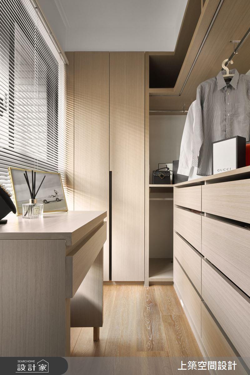 28坪新成屋(5年以下)_北歐風更衣間案例圖片_上築空間設計_上築_35之17
