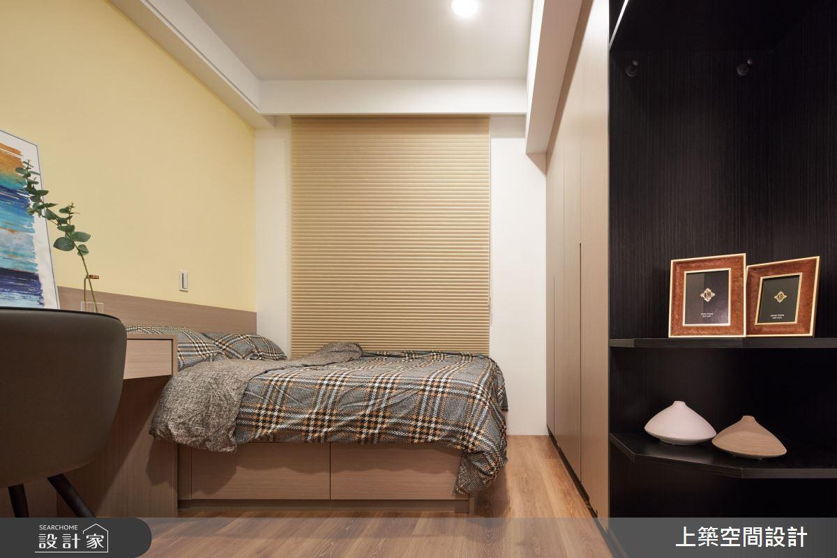 28坪新成屋(5年以下)_北歐風臥室案例圖片_上築空間設計_上築_35之21