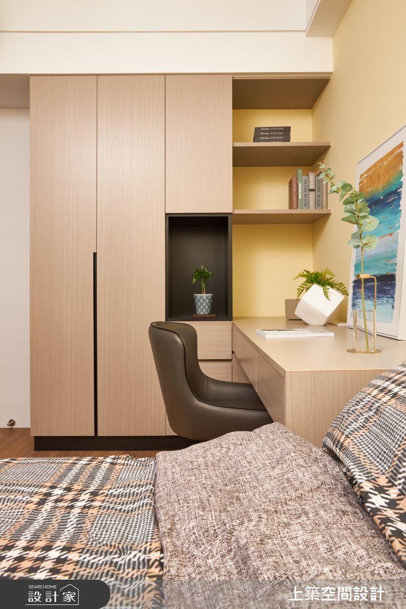 28坪新成屋(5年以下)_北歐風臥室案例圖片_上築空間設計_上築_35之22