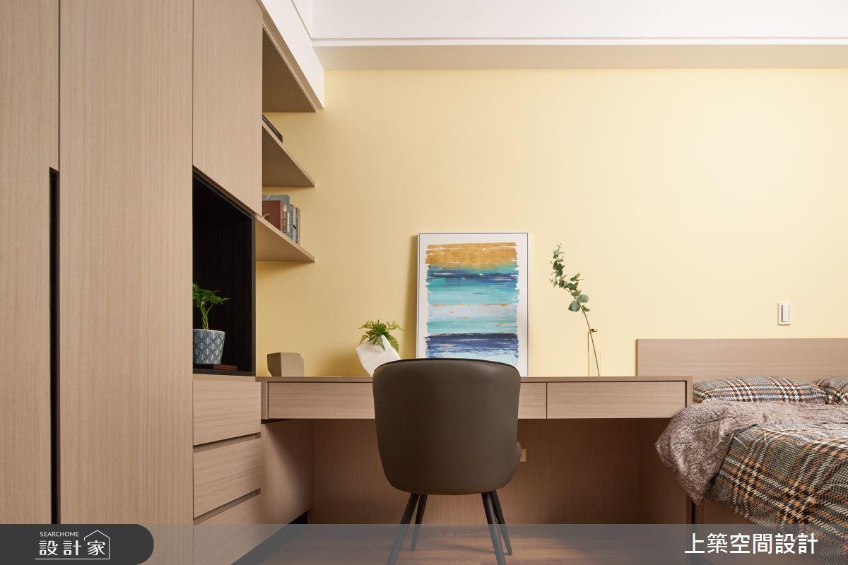 28坪新成屋(5年以下)_北歐風臥室案例圖片_上築空間設計_上築_35之23