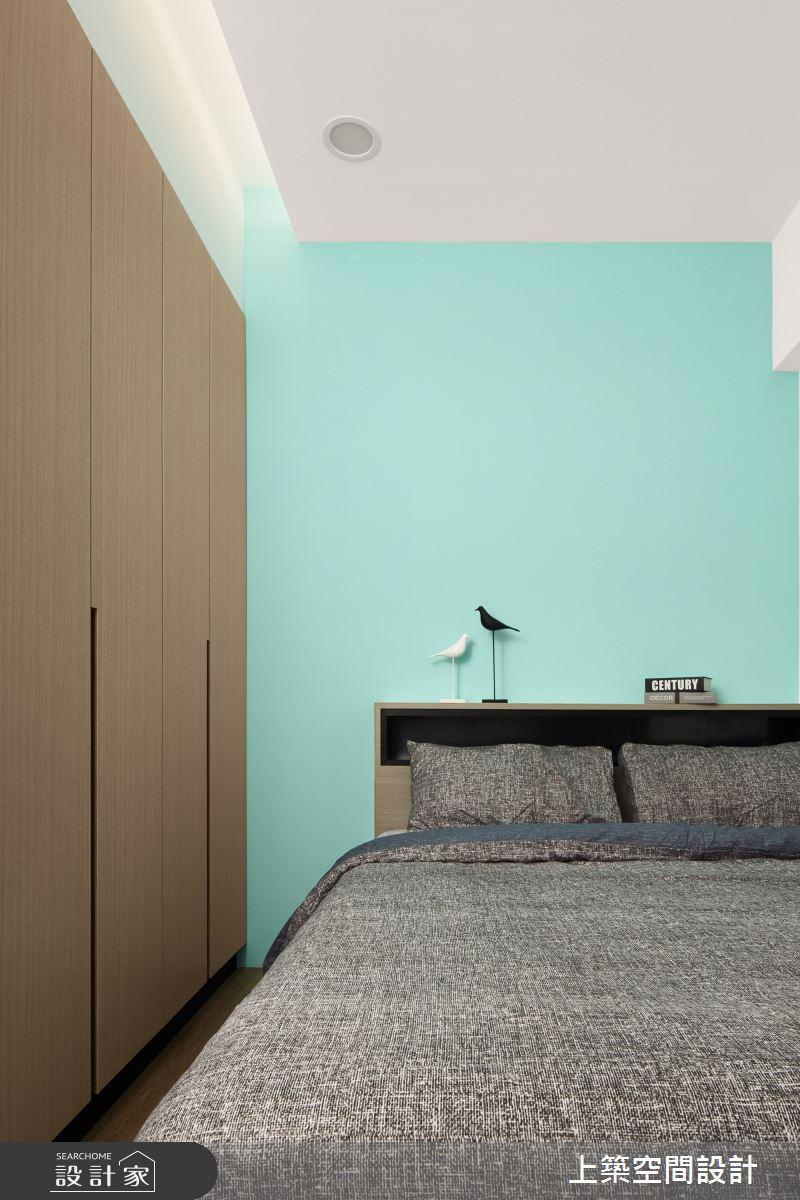 28坪新成屋(5年以下)_北歐風臥室案例圖片_上築空間設計_上築_35之24