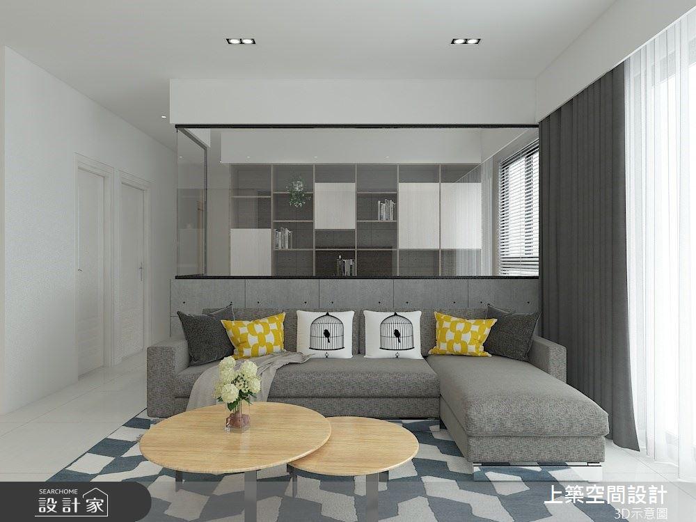 26坪預售屋_現代風客廳案例圖片_上築空間設計_上築_36之3