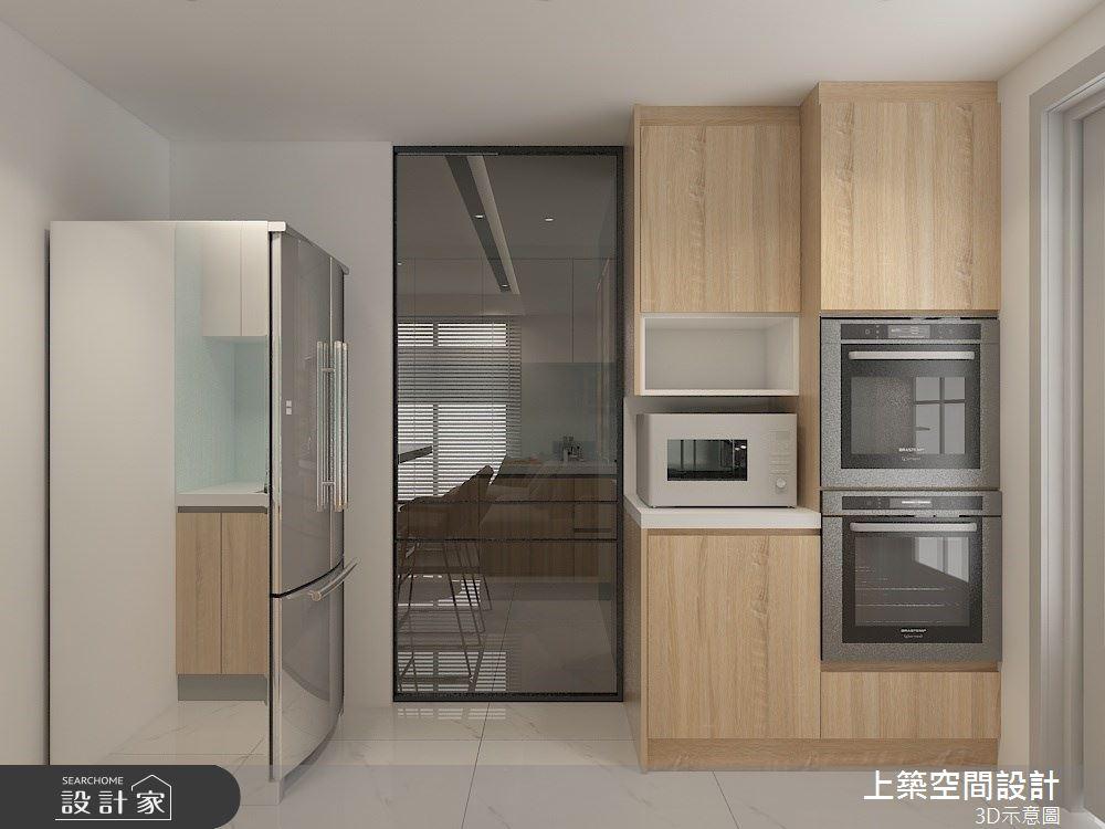 30坪預售屋_混搭風廚房案例圖片_上築空間設計_上築_38之11