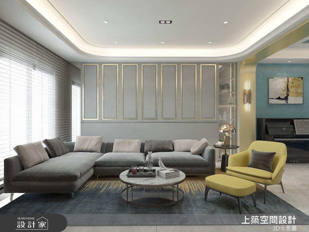 80坪新成屋(5年以下)_現代風客廳案例圖片_上築空間設計_上築_40之2