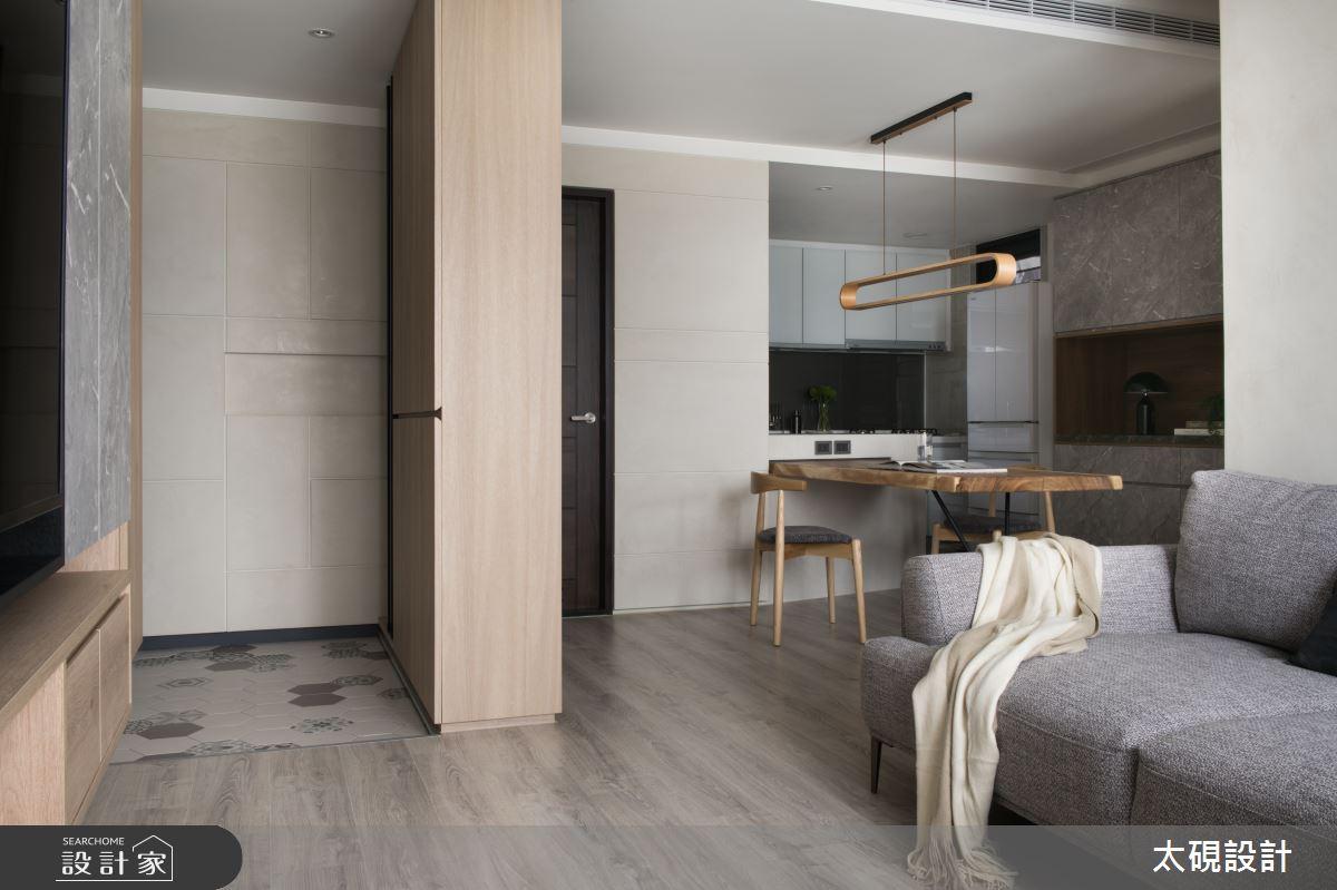 23坪新成屋(5年以下)_簡約風客廳案例圖片_太硯室內裝修有限公司_太硯_06之4