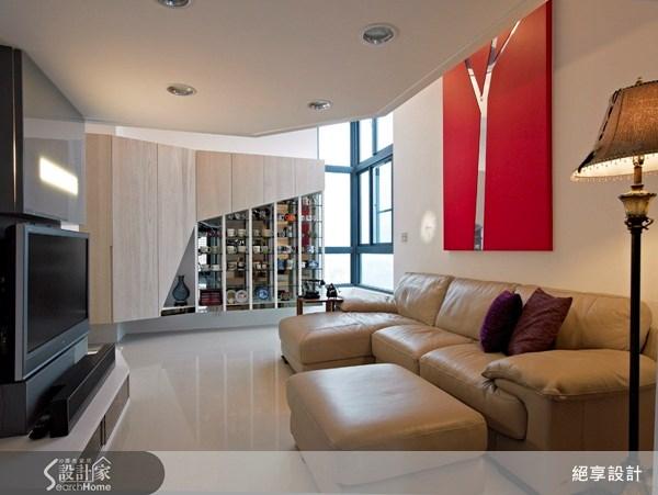 12坪新成屋(5年以下)_現代風客廳案例圖片_絕享設計_絕享_45之1