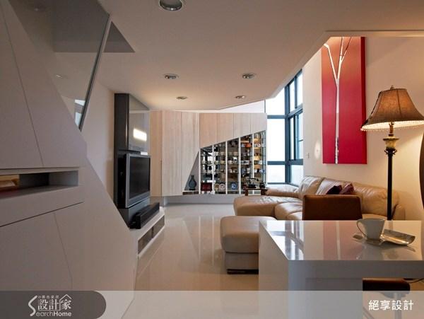 12坪新成屋(5年以下)_現代風客廳案例圖片_絕享設計_絕享_45之2
