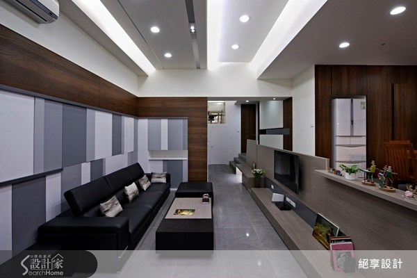 40坪中古屋(5~15年)_現代風客廳案例圖片_絕享設計_絕享_55之2