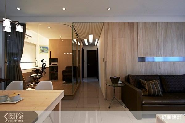 20坪新成屋(5年以下)_簡約風客廳案例圖片_絕享設計_絕享_62之3