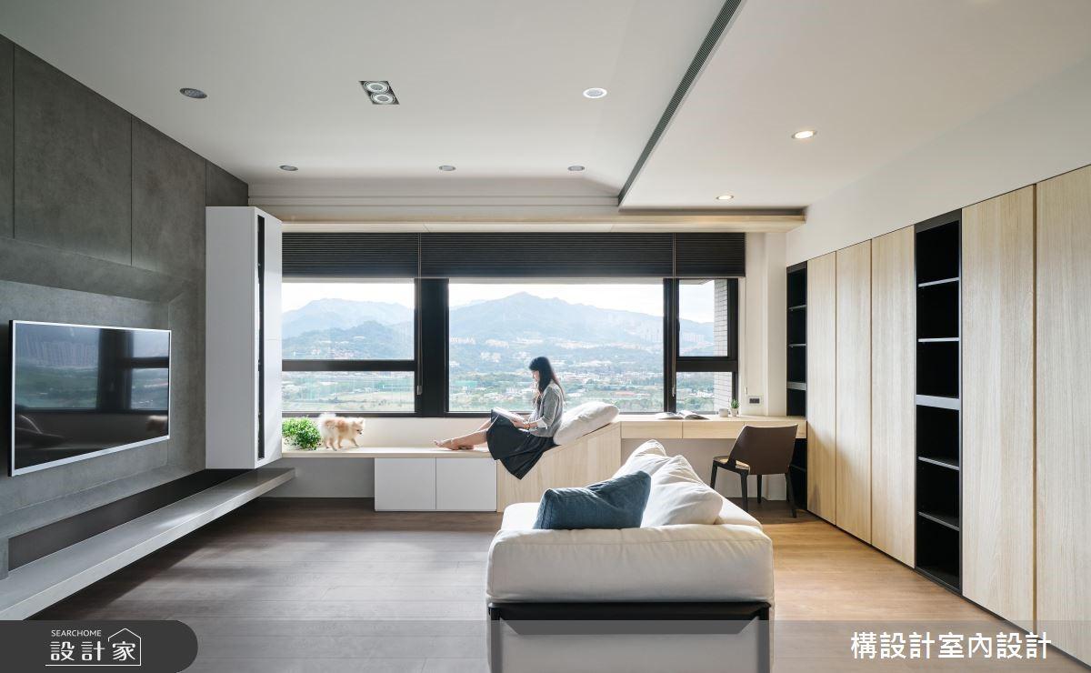 60坪新成屋(5年以下)_北歐風客廳案例圖片_構設計_構設計_晷跡之4