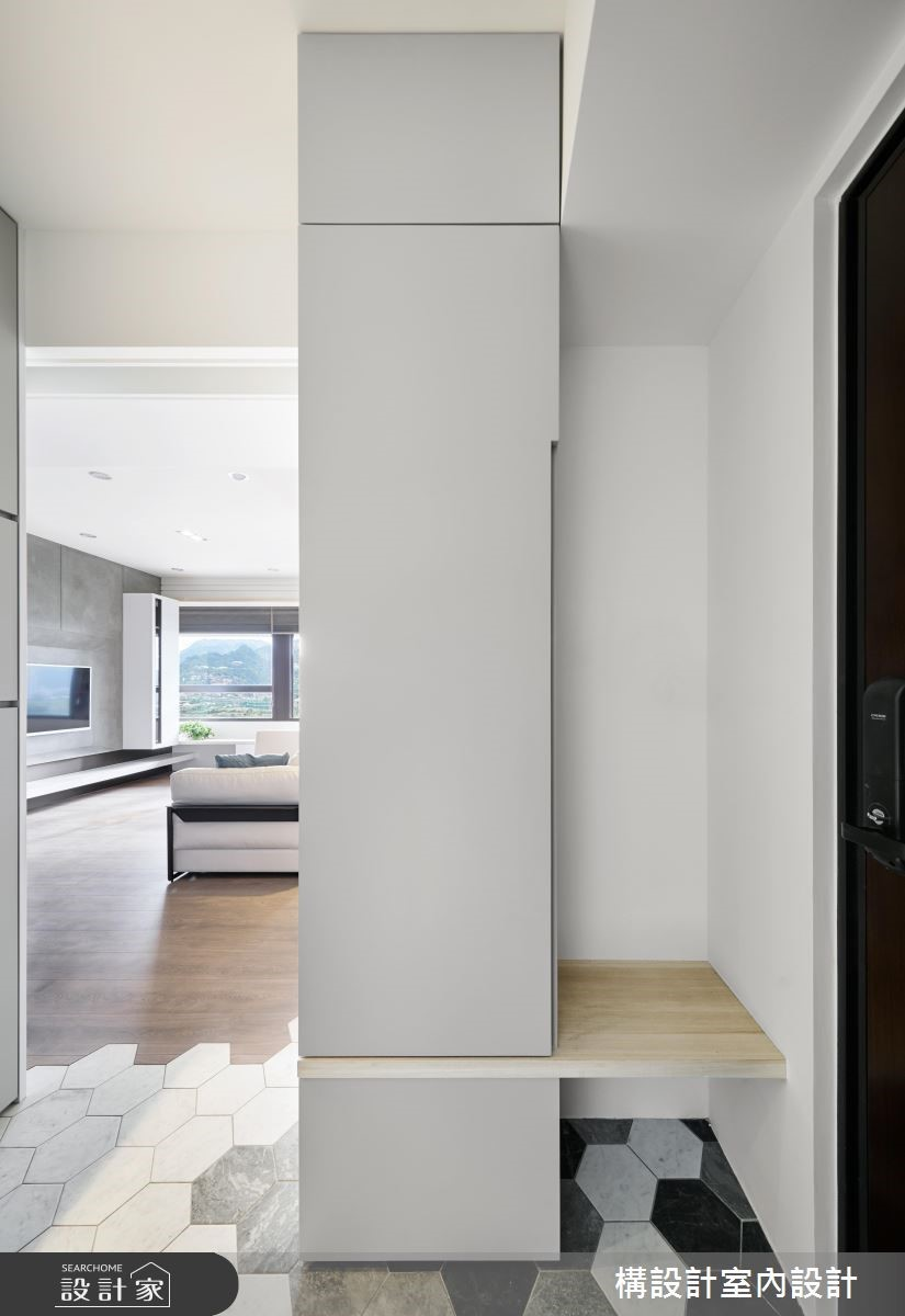 60坪新成屋(5年以下)_北歐風玄關案例圖片_構設計_構設計_晷跡之2