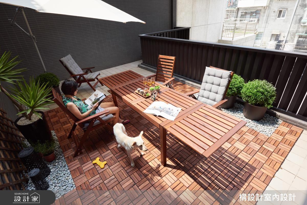 24坪新成屋(5年以下)_休閒風庭院案例圖片_構設計_構設計_兩人兩狗之18